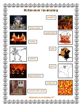 ESL: Halloween Vocabulary