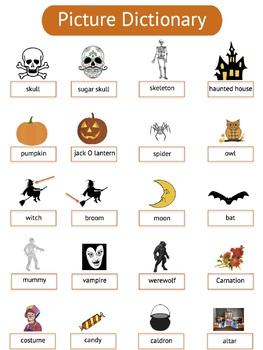 ESL Halloween Vocabulary Packet