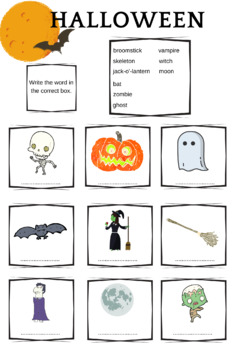 ESL Halloween Vocabulary [page 1]