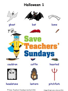 ESL Halloween Worksheets, Games, Activities and Flash Cards (with audio)