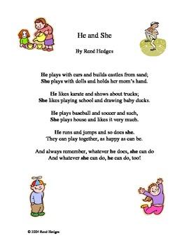 ESL He vs. She Poem