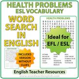 ESL Health Problems - Word Search