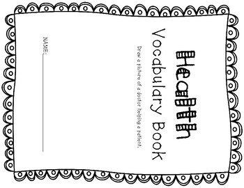 ESL Health Vocabulary Flip Books