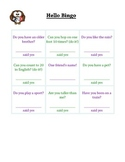 ESL Hello Bingo - English Practice Icebreaker