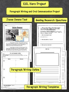 ESL Hero Research Project Paragraph Writing and Oral Presentation