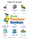 ESL Holidays & the Beach Worksheets, Games, Activities & Flash Cards(with audio)