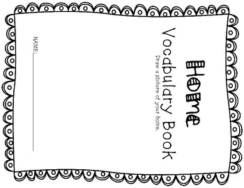 ESL Home Vocabulary Flip Books
