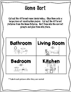 ESL Home Vocabulary Sorts