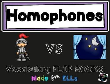 ESL Homophones Vocabulary Flip Books