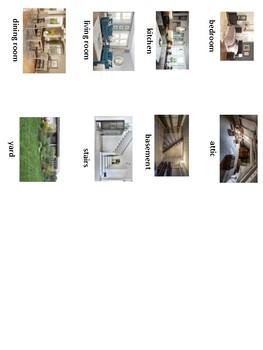 ESL: House Vocabulary Flashcards (Flashcards Only)