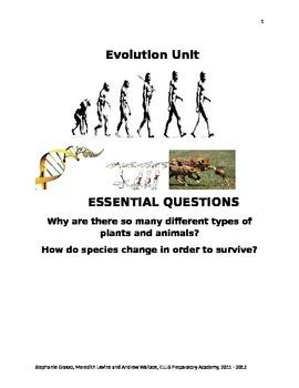 ESL Human Evolution Unit Guide and Vocabulary