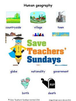ESL Human Geography Worksheets, Games, Activities and Flash Cards (with  audio)