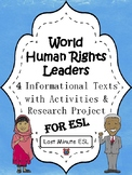 4 World Human Rights Leaders Biographical Articles with Ac