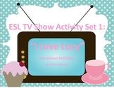 ESL - I Love Lucy TV Show Correlated Activity Set 1
