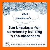 Ice Breaker Activity: Find someone who... ESL - ELL