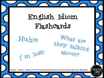 ESL Idiom Flashcards