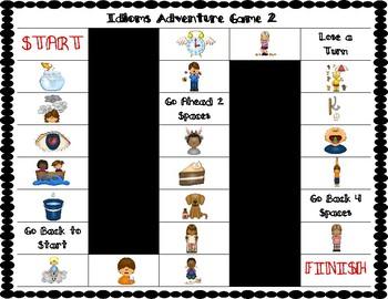 ESL Idiom Vocabulary Board Game