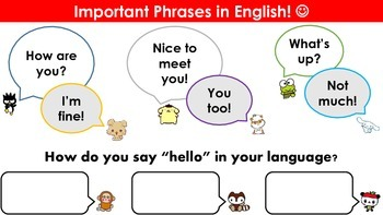 ESL Important Beginner Phrases in Conversational English