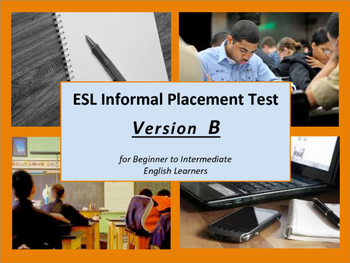 ESL Informal Assessment for Beginner to Intermediate Level