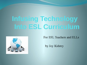 ESL Infusing Technology into Curriculum for Teachers and ELLs