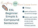 ESL Beginning Level: Simple & Compound Sentence Writing
