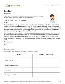 ESL Intermediate Material - Be Used to and Get Used to