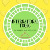 ESL Conversation -International Food PP, Smart Board activ