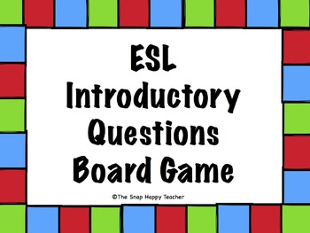 ESL Introductory Questions Board Game