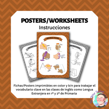 ESL Intructions and classroom vocabulary posters for years 1 & 2