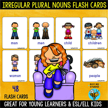 Irregular Plural Nouns | Easy Grammar for Young Learners & ESL Kids
