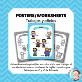 ESL Jobs vocabulary posters for years 1 & 2