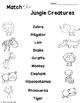 ESL Jungle Creatures- Flashcards, Worksheets & Activities