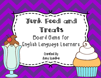 ESL Junk Food & Treats Vocabulary Board Game