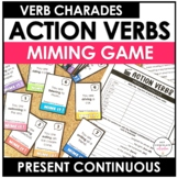 Present Continuous Charades -  Action Verb Miming Game Cards