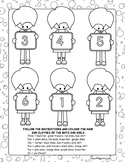 ESL Kids Colouring Page, Follow Instructions and Colour th