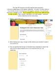 ESL Kindergarten observation data collection form