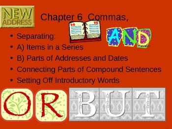 ESL LESSON: COMMAS (Powerpoint)
