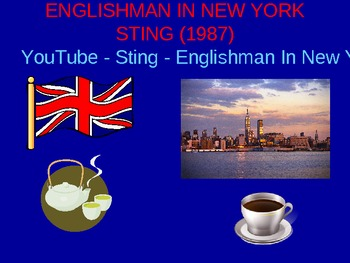 Englishman in New York Song Vocabulary
