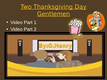 Two Thanksgiving Day Gentlemen by O.Henry VIDEO