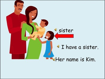 ESL Language Lab Powerpoint - have, family and colors