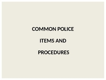 ESL Law and Order: Law Enforcement vocabulary review (uneditable)