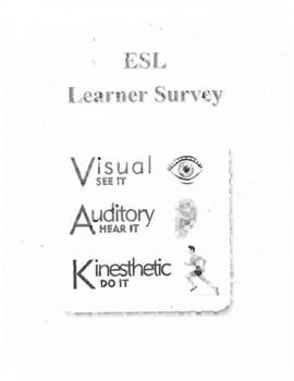ESL- Learner Survey ( English and Spanish)