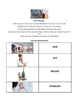 ESL Lesson: Art Therapy