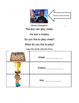 ESL Lesson: Chess Champion