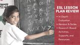 ESL Lesson Plan Review