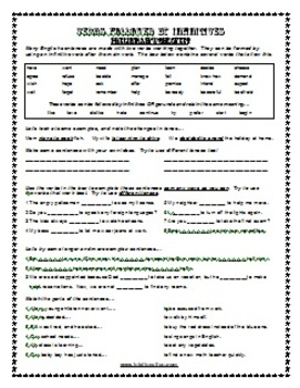 ESL Lesson Plan & Worksheets (Print) - Infinitives 1