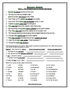 ESL Lesson Plan & Worksheets (Print) - Passive 1
