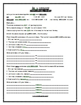 ESL Lesson Plan & Worksheets (Print) - So & Because 2