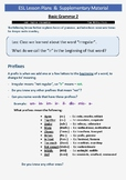 ESL Lesson Plans 3 - Basic Grammar Cont. (Part B - Prefixes)