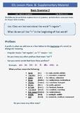 ESL Lesson Plans 3 - Basic Grammar Cont. (Part B - Prefixes)